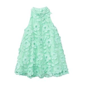 Janie and Jack - Mint Lace Bloom Swing Dress